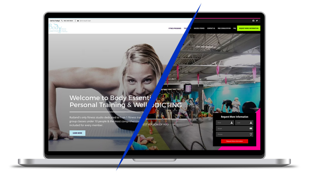 fitness templated websites
