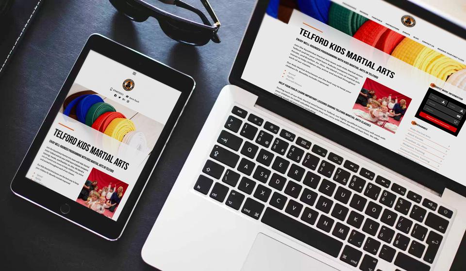 martial arts website page
